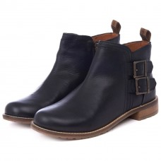 Barbour Sarah Leather Low Buckle Ladies' Ankle Boots