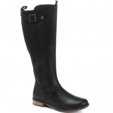 Barbour Rebecca Ladies Long Zip Black Leather Boots