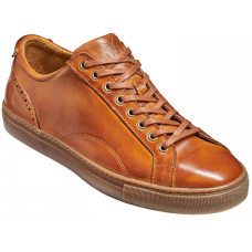 Barker Axel Sneakers Mens Rosewood Hand Painted Calf Leather Shoes