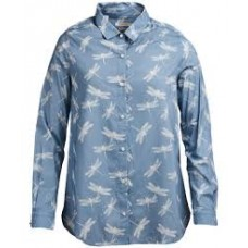 Barbour Bowfell Ladies Long Sleeve Shirt - Blue/Dragonfly