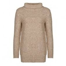 Barbour Jumper Malvern Roll Collar Ladies Oatmeal Knit