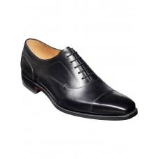 Barker Liam Oxford Toe Cap Black Calf Leather Mens Shoes (08)