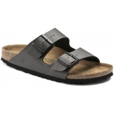 Birkenstock Arizona Ladies Anthracite Birko Flor Sandals Narrow