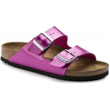 Birkenstock Arizona Electric Metallic Magenta Birko Flor Ladies Sandals Narrow