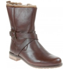 Barbour Jennifer Ladies Leather Mid-Calf Boots Brown