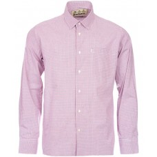 Barbour Shirt Conholt Rich Red Check Mens
