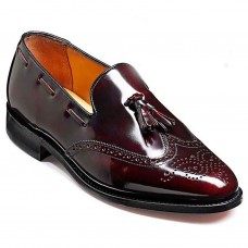 Barker Clive Loafer Wing Cap Style Burgundy Cobbler Mens Shoes