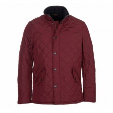 Barbour Jacket Quilted Powell Burgundy Mens