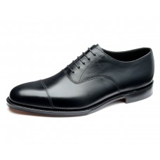 Loake Aldwych Plain Toe Cap Black Oxford Shoes (11)