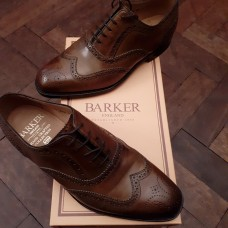 Barker Lanark Acorn Burnished Calf Leather Mens Shoes (06)