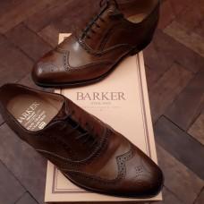 Barker Lanark Acorn Burnished Calf Leather Mens Shoes (06)