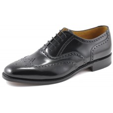 Loake Full Brogue Oxford Style 202 Mens Black Shoes (11)