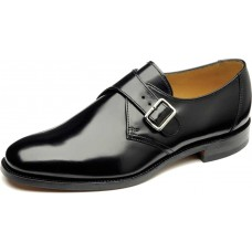 Loake Buckle Monk Shoe Style 204B Black Mens Shoes (09)