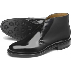 Loake Ankle Boots 209 Black Polished Shiney Mens