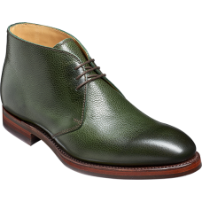 Barker Orkney Chukka Boot Style Mens Green Grain Boots