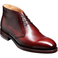 Barker Orkney Chukka Boot Style Mens Cherry Grain Shoes (06)