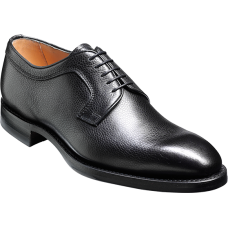 Barker Derby Style Skye Mens Black Grain Leather Shoes (08)