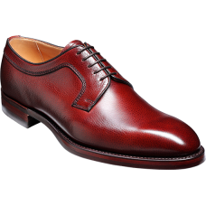 Barker Derby Style Skye Mens Cherry Grain Leather Shoes (10½)