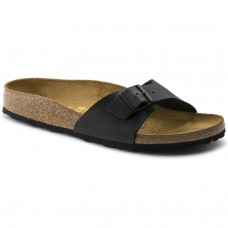 Birkenstock Madrid Black Birko Flor Ladies Sandals Narrow