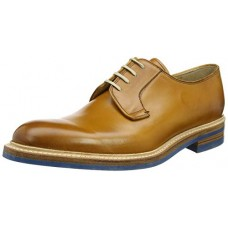 Barker Kingswood Derby Style Mens Cedar Calf Brown Leather Shoes (09)