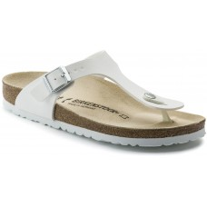 Birkenstock Gizeh Ladies White Birko Flor Sandals
