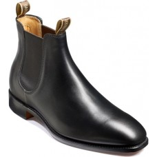 Barker Mansfield Chelsea Boot Style Mens Black Calf Shoes (08)