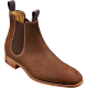 Barker Mansfield Chelsea Boot Style Mens Brown Waxy Suede Shoes