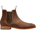 Barker Mansfield Chelsea Boot Style Mens Brown Waxy Suede Shoes (Size 10)