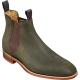Barker Mansfield Chelsea Boot Style Mens Green Waxy Suede Shoes
