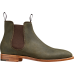 Barker Mansfield Chelsea Boot Style Mens Green Waxy Suede Shoes (07)