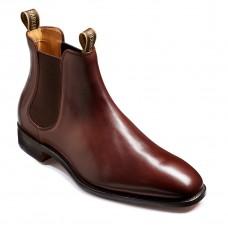 Barker Mansfield Chelsea Style Boot Mens Cherry Grain