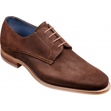 Barker Max Derby Style Mens Brown Burnish Suede Leather Mens Shoes (07)