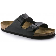 Birkenstock Arizona Black Birko Flor Ladies Sandals Narrow