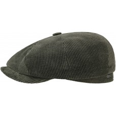 Stetson Hatteras Olive Corduroy Flat Cap Style Mens Hat