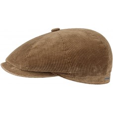 Stetson Hatteras Beige Corduroy Flat Cap Style Mens Hat