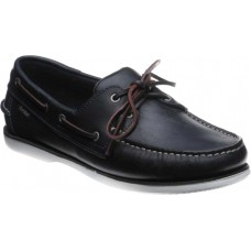 Loake Boat Deck Shoe Style 528N Mens Waxy Navy Blue Shoes (07)