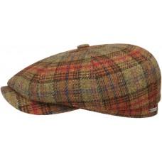 Stetson Hatteras Rust Mens Flat Lambswool Cap Style Hat
