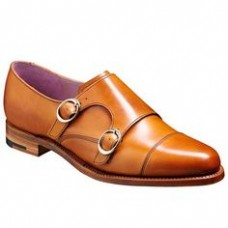 Barker Lucy Monk Strap Style Leather Shoes Cedar Calf