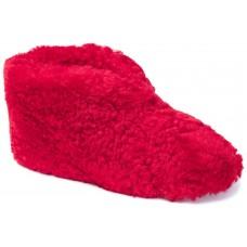 Shepherd Ulla Bright Red Sheepskin Leather Wool Womens Slippers