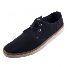 Timberland Mens Black Hookset Cotton Canvas Trainers (07)
