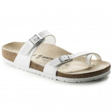 Birkenstock Mayari Ladies White Birko Flor Sandals Regular Fit