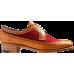 Barker Abbey Derby Wingtip Brogue Style Cedar Calf / Burgundy Red Suede Ladies Shoes