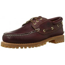 Timberland 3 Eye Classic Lug Burgundy Brown Mens Boat Deck Shoes