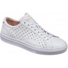 Barker Isla White Calf Studded Leather Ladies Sneaker