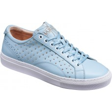 Barker Isla Pale Blue Calf Studded Leather Ladies Sneaker