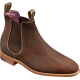 Barker Gina Chelsea Boot Style Ladies Mid Brown Waxy Suede Leather Boots