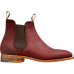 Barker Gina Chelsea Boot Style Ladies Plum Waxy Suede Leather Shoes