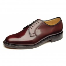 Loake Derby Style 771T Burgundy Leather Mens Shoes (10½)