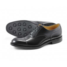 Loake Oxford Toe Cap Style 806 Black Mens Rubber Soled Shoes