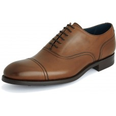 Barker Newman Oxford Toe Cap Style Walnut Calf Leather Mens Shoes (09)